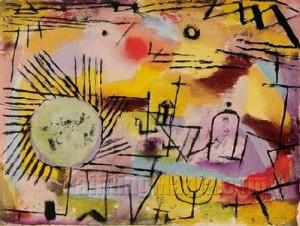 Paul Klee Rising Sun 1907