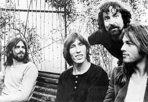 Pink Floyd 1971 B&W sitting
