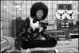 Sly Stone and Tape Recorder