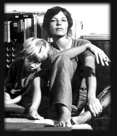 Sibylle Baier and her son Robby