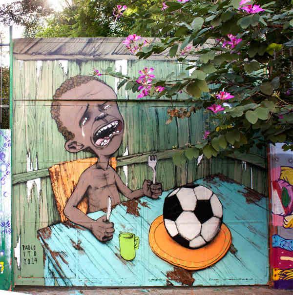 26/5/14 - Paulo Ito's Street Art Vs The World Cup/ City Of