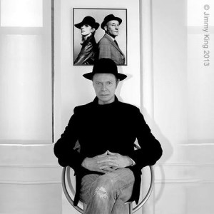 David Bowie Pic with Burroughs and Bowie pic in background -300x300