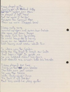 Bowie Ziggy-lyrics