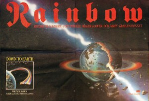 Rainbow - down-to-earth-poster-1980