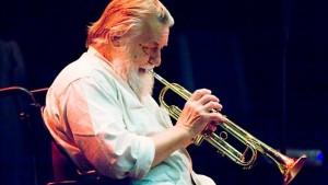 Robert Wyatt with trumpet