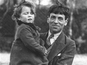 Stanley Spencer and daughter Unity 1933
