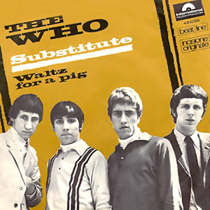 The Who Substitute 7 inch single cover 1966